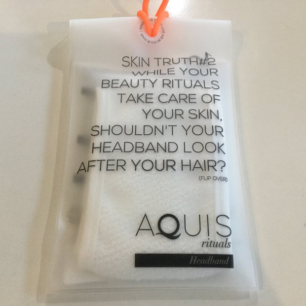 Aquis Rituals Headband - White-Towels-ellënoire body, bath fragrance & curly hair