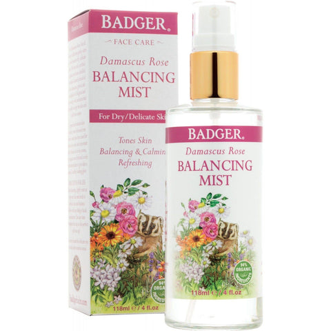 Badger Face Care Damascus Rose Balancing Mist-ellënoire body, bath fragrance & curly hair