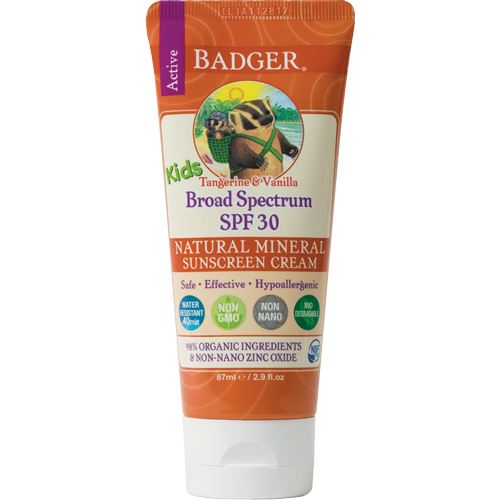 Badger SPF 30 Kids Sunscreen Cream-Sunscreen-ellënoire body, bath fragrance & curly hair