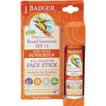 Badger SPF 35 Kids Sunscreen Face Stick-Face Products-ellënoire body, bath fragrance & curly hair