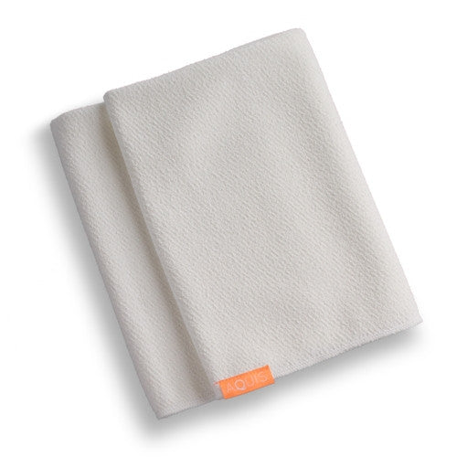 Aquis Lisse Luxe Hair Towel - WHITE (19x42)-Towel-ellënoire body, bath fragrance & curly hair
