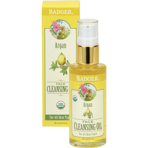 Badger Argan Face Cleansing Oil-Badger-ellënoire body, bath fragrance & curly hair
