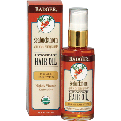 Badger Sea-Buckthorn Hair Oil for All Hair Types-Badger-ellënoire body, bath fragrance & curly hair