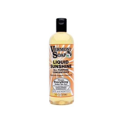 Vermont Soap Liquid Sunshine Organic Cleaning Liquid Soap-Natural House Cleaning-ellënoire body, bath fragrance & curly hair