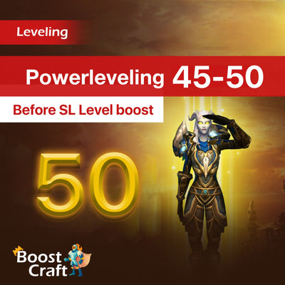 buy wow 45-50 level boost best price