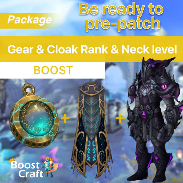 buy wow charather boost cloak neck gear