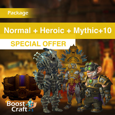 Weekly BoD package (Normal+Heroic run and mythic+10) - Boost