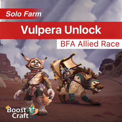 Vulpera race Unlock - BFA Allied Race