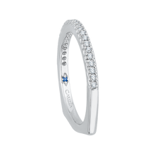 Load image into Gallery viewer, 14K White Gold Round Diamond Half Eternity Euro shank Wedding Band