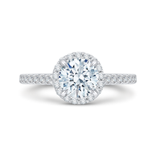 Load image into Gallery viewer, CA0034E-37W Bridal Jewelry Carizza White Gold Round Diamond Halo Engagement Rings
