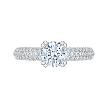 Load image into Gallery viewer, CA0035E-37W Bridal Jewelry Carizza White Gold Round Diamond Engagement Rings
