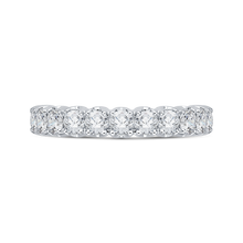 Load image into Gallery viewer, CA0037B-37W Bridal Jewelry Carizza White Gold Round Diamond Wedding Bands