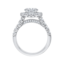 Load image into Gallery viewer, 14K White Gold Round Halo Diamond Engagement Ring (Semi Mount)