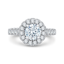 Load image into Gallery viewer, CA0037E-37W Bridal Jewelry Carizza White Gold Round Diamond Halo Engagement Rings