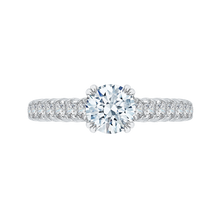 Load image into Gallery viewer, CA0039E-37W Bridal Jewelry Carizza White Gold Round Diamond Engagement Rings