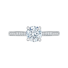 Load image into Gallery viewer, CA0040E-37W-1.50 Bridal Jewelry Carizza White Gold Round Diamond Solitaire Engagement Rings