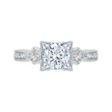Load image into Gallery viewer, CA0046E-37W Bridal Jewelry Carizza White Gold Vintage Round Diamond Engagement Rings