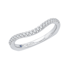 Load image into Gallery viewer, 14K White Gold Diamond Wedding Band with Euro Shank