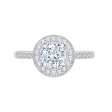 Load image into Gallery viewer, CA0058E-37W Bridal Jewelry Carizza White Gold Round Diamond Halo Engagement Rings