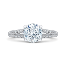 Load image into Gallery viewer, CA0082E-37W-1.50 Bridal Jewelry Carizza White Gold Round Diamond Engagement Rings