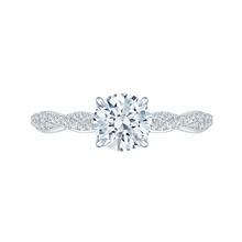 Load image into Gallery viewer, CA0088E-37W Bridal Jewelry Carizza White Gold Round Diamond Engagement Rings
