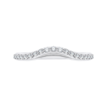 Load image into Gallery viewer, CA0095B-37W Bridal Jewelry Carizza White Gold Round Diamond Wedding Bands