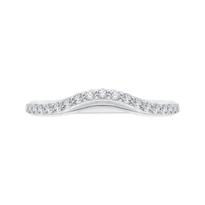 CA0095B-37W Bridal Jewelry Carizza White Gold Round Diamond Wedding Bands