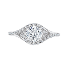 Load image into Gallery viewer, CA0095E-37W Bridal Jewelry Carizza White Gold Round Diamond Halo Engagement Rings