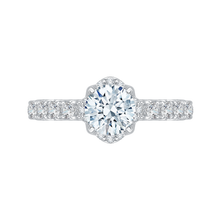Load image into Gallery viewer, CA0097E-37W Bridal Jewelry Carizza White Gold Round Diamond Engagement Rings