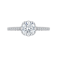 Load image into Gallery viewer, CA0101E-37W Bridal Jewelry Carizza White Gold Round Diamond Engagement Rings