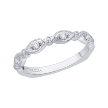 Load image into Gallery viewer, 14K White Gold Round Diamond Wedding Band with Euro Shank