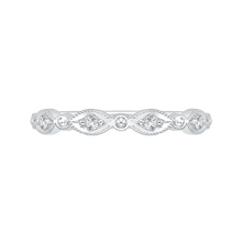 Load image into Gallery viewer, CA0103B-37W Bridal Jewelry Carizza White Gold Round Diamond Wedding Bands