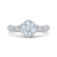 Load image into Gallery viewer, CA0103E-37W Bridal Jewelry Carizza White Gold Round Diamond Engagement Rings