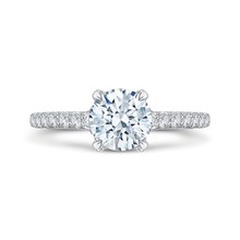 Load image into Gallery viewer, CA0106E-37W Bridal Jewelry Carizza White Gold Round Diamond Engagement Rings
