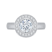 Load image into Gallery viewer, CA0107E-37W Bridal Jewelry Carizza White Gold Round Diamond Halo Engagement Rings