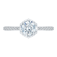 Load image into Gallery viewer, CA0120E-37W Bridal Jewelry Carizza White Gold Round Diamond Engagement Rings
