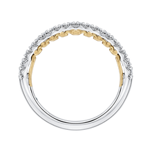 Load image into Gallery viewer, Round Diamond Half Eternity Wedding Band In 14K Two Tone Gold