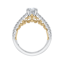 Load image into Gallery viewer, 14K Two Tone Gold Round Diamond Engagement Ring (Semi Mount)