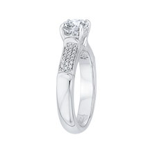 Load image into Gallery viewer, Round Diamond Cathedral Style Engagement Ring In 14K White Gold (Semi Mount)
