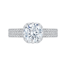 Load image into Gallery viewer, CA0133EQ-37W-1.50 Bridal Jewelry Carizza White Gold Round Diamond Engagement Rings