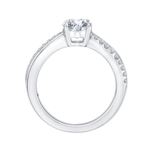 Load image into Gallery viewer, Round Diamond Engagement Ring with Split Shank In 14K White Gold (Semi Mount)