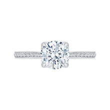 Load image into Gallery viewer, CA0136EH-37W-1.50 Bridal Jewelry Carizza White Gold Round Diamond Engagement Rings