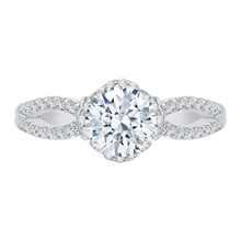Load image into Gallery viewer, CA0146E-37W Bridal Jewelry Carizza White Gold Round Diamond Engagement Rings