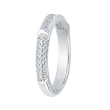 Load image into Gallery viewer, 14K White Gold Princess & Round Diamond Wedding Band