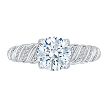 Load image into Gallery viewer, CA0158EH-37W-1.50 Bridal Jewelry Carizza White Gold Round Diamond Engagement Rings