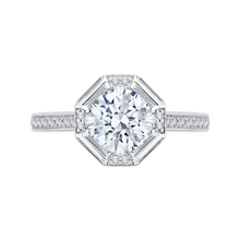 Load image into Gallery viewer, CA0159EH-37W-1.50 Bridal Jewelry Carizza White Gold Round Diamond Engagement Rings