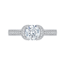 Load image into Gallery viewer, CA0161EH-37W Bridal Jewelry Carizza White Gold Round Diamond Engagement Rings