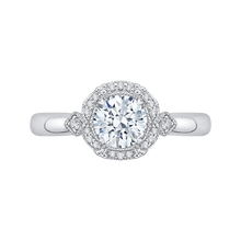 Load image into Gallery viewer, CA0162E-37W Bridal Jewelry Carizza White Gold Round Diamond Engagement Rings