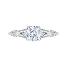 Load image into Gallery viewer, CA0176EH-37W Bridal Jewelry Carizza White Gold Vintage Round Diamond Engagement Rings