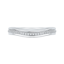 Load image into Gallery viewer, CA0178B-37W Bridal Jewelry Carizza White Gold Round Diamond Wedding Bands